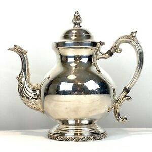 Vintage Fb Rogers Silver Co 1883 Silver On Copper Tea Pot Coffee Pot Teapot Vgc