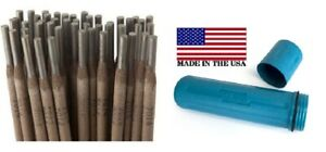 E7014 3 32 40ibs Stick Welding Electrode 7014 Rods With Us Made Blue Rod Guard
