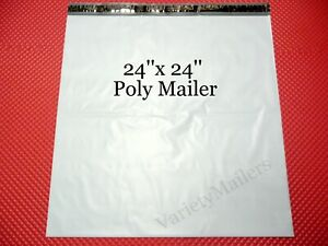 7 Extra Large Poly Bag Mailers 24x24 Plastic Self sealing Shipping Envelope Bags