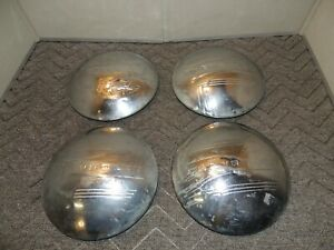 Set Of 4 Vintage Chevrolet Baby Moon Dog Dish Hubcaps