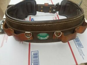 Buckingham Ers Leather Lineman Tree Pole Climbing Belt Size 24 Ers