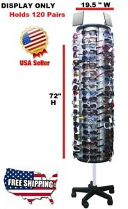 Floor Model Sunglass Display Rack Holds 120 Pairs 72 H X 19 5 W Free Shipping
