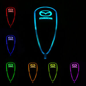 Car Auto Gear Shift Knob Led Light 7 Color Touch Activated Sensor For Mazda