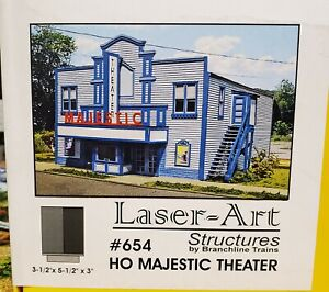 Laser-Art Structures # 654 HO Majestic Theater with Vintage Marquee Signs