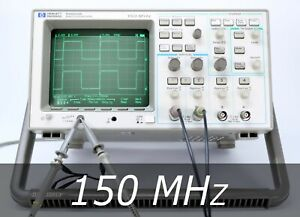 Hp Agilent 54602b 4 channel 150 Mhz Oscilloscope 2 New Probes Very Clean