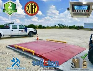 Op 934 10 X 10 Ntep Legal For Trade Axle Truck Cargo Scale With 60 000 Lbs