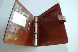 Mulberry Leather Planner Organizer Large Size Made In England Excellent