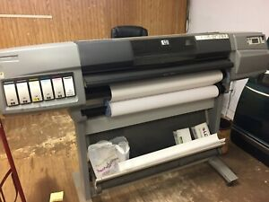 Hp Designjet 5500 42 Large Format Uv Inkjet Printer W stand Works With Extras