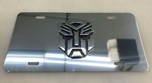 Transformers Vehicle License Plate Front Mirrored New Autobots Decepticons 3d