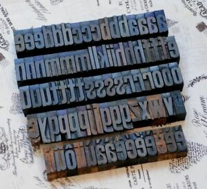 A z Alphabet 1 61 Letterpress Wooden Printing Blocks Wood Type Vintage Print