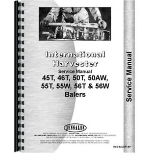 New Service Manual For International Harvester 46 Baler