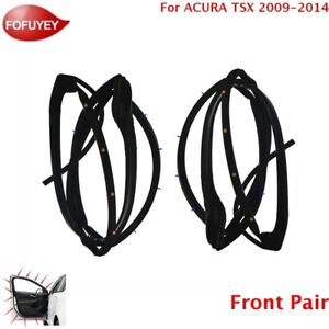 For Acura Tsx 2009 2014 Door Weatherstrip Front 2pc Sllence Opening Gasket