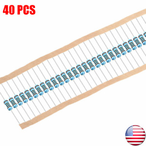 1 4w 25 Watt 1 Tolerance Metal Film Resistor 40 Pieces Usa Seller