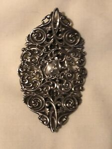 Antique Victorian Sterling Belt Buckle Openwork Design
