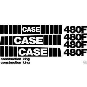 New Whole Machine Decal Set Fits Case Construction King Backhoe Loader 480f