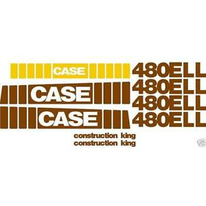 New Whole Machine Decal Set Fits Case Construction King Backhoe Loader 480ell