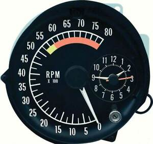1973 75 Pontiac Firebird Tachometer Clock In Dash Gauge Assembly 5500 Redline