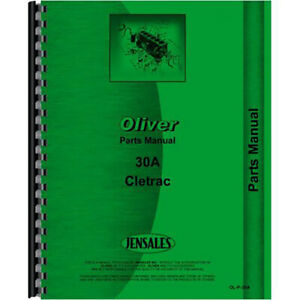 Parts Manual For New Oliver 30a Tractor