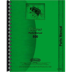 New Parts Manual For Oliver 500 Tractor