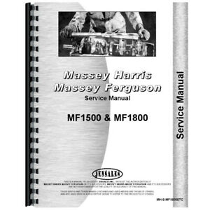 New Massey Ferguson 1500 Tractor Service Manual