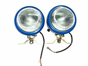Massey Ferguson Tractor Blue Plogh Lamps l r Pair With 12v Bulbs For Mf 35 50 6