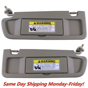 Sun Visor Warm Gray Pair For 2006 2011 Honda Civic Visors Left Right Visor Set