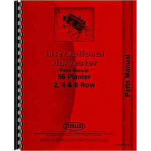 New Planter Parts Manual For International Harvester 56