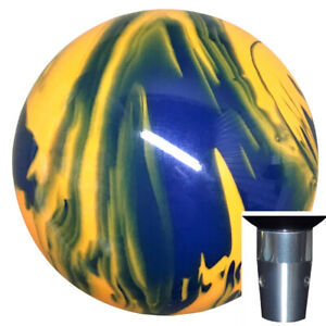 Marbled Blue Yellow Non Threaded Shift Knob Kit U S Made