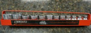 Mac Tools 1 Piece 1 2 Drive Sae Impact Socket Set W Tray Great Condition