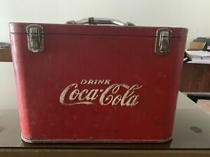 Vintage  Coca-Cola Airline Cooler 1940s-1950s Original Good/ Fair Condition