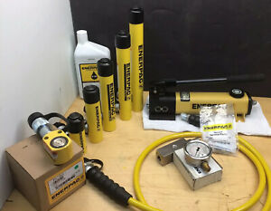 Enerpac Nice 5 Ton Hydraulic Cylinder Set P142 Pump Rc51 Rc53 Rc55 Rc57 Rc59