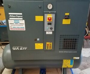 2018 Atlas Copco Gx2ff 3hp Rotary Screw Air Compressor With Dryer 113 Hours