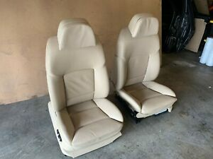 Bmw 2009 2016 F10 F02 Front Left And Right Seat Heated Sport Beige Set Oem 63mk