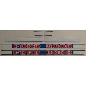 F502hb Hood Decal Kit Set Fits Ford Tractor 3000 1968 And Up