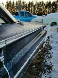 1960 Chevrolet Impala Belair 4dr Drivers Rear Quarter Upper Chrome Trim Molding