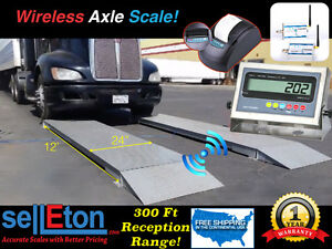 New 12 X 2 Wireless Truck Axle Scale Capacity Of 60 000 Lbs With Printer