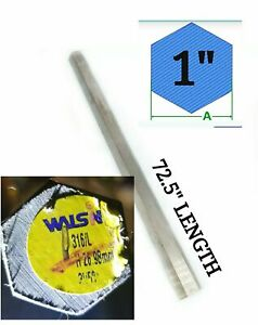 72 5 Long X 1 Wide 316 L Stainless Steel Hex Bar Stock Brand New Us Seller