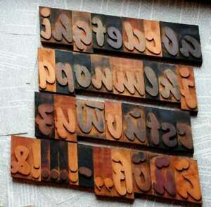 A z Alphabet 3 54 Letterpress Wooden Printing Blocks Wood Type Vintage Printer