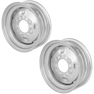 2 Front Wheel Rims 5 5 X 16 6 Hole 6 Circle 5 50 16 For Ford Nh C5nn1007a