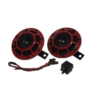 Hella 003399801 Supertone Upgrade Red Horn Kit Twin Pair 118db 12v High Low Tone