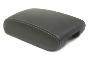 Fits 11 19 Jeep Grand Cherokee Vinyl Console Lid Armrest Cover Black Gray Stitch