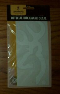 Browning White Official Buckmark Buck Vinyl Decal New In Package