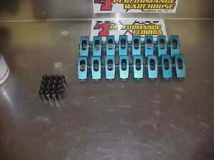 16 Aluminum 1 50 Ratio Roller Rocker Arms With 7 16 Polylocks Sb Chevy Imca Ump