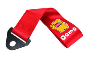 Jdm Domo Red Racing Drift Rally Car Tow Towing Strap Belt Hook Universal X1