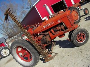 Farmall H Super H Nice Complete W Brackets Side Mount Sickle Bar Mower Hardfind