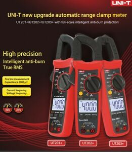 Uni t True Rms Digital Clamp Meter Multimeter Ac Dc Volt Amp Ohm Cap Ncv Tester