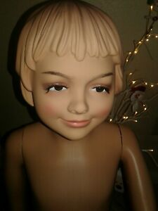 Realistic Maniquin 6 10 Year Old Child Girl Mannequin With Face And Molded Hair