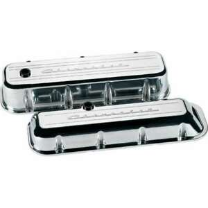 Billet Specialties Bbc Valve Covers Chevy Logo Tall