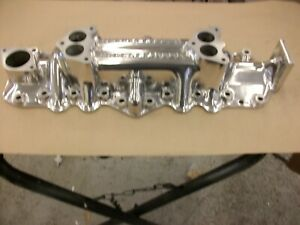 1942 1948 Ford Mercury Offenhauser Super Dual Polished Intake Manifold Flathead