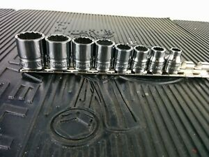 af739 New 2018 Snap on 7pc 3 8 Drive Sae Shallow 12pt Chrome Socket Set